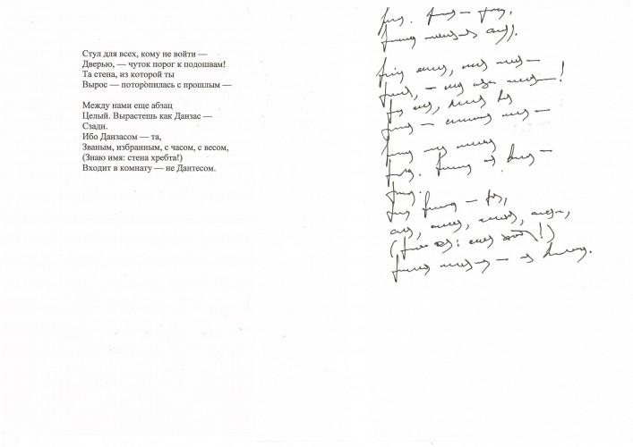 asemic translation_Tsvetaeva_Popytka komnaty2_2015_paper, gel pen