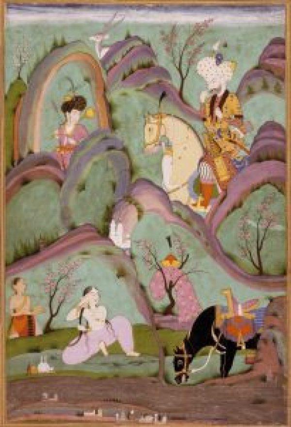 Khosrow Beholding Shirin Bathing, India, c. 1720