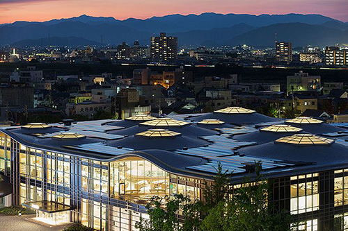 Gifu Media Cosmos - Photograph by Iwan Baan
