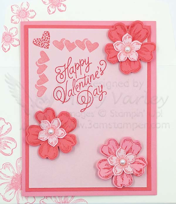 Valentine with Roses card for 2017 - Visit http://www.3amstamper.com