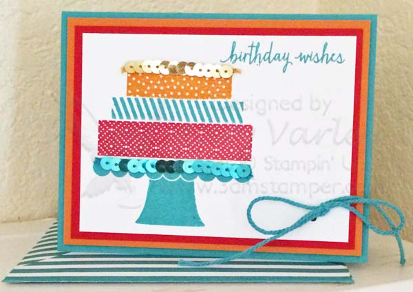 Bright Birthday Card with Bermuda Bay-Visit http://www.3amstamper.com