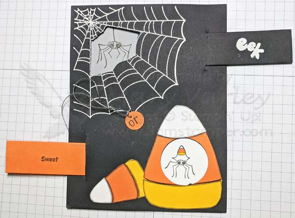 Candy Corn Pull-Out Card-Open - visit http://www.3amstamper.com