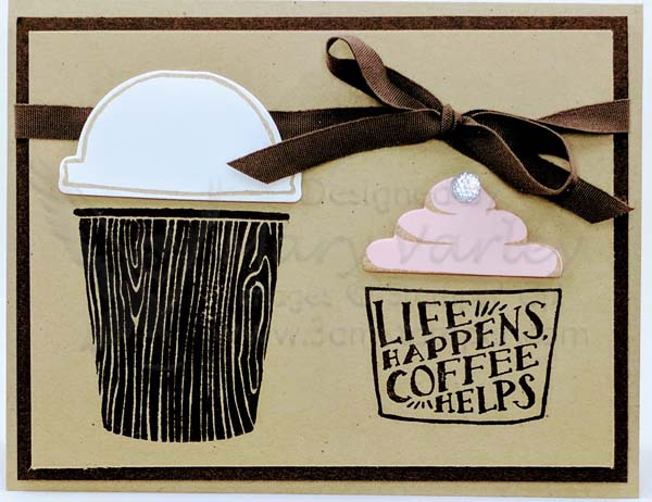 Crumb Cake & Early Espresso Card - Visit http://www.3amstamper.com
