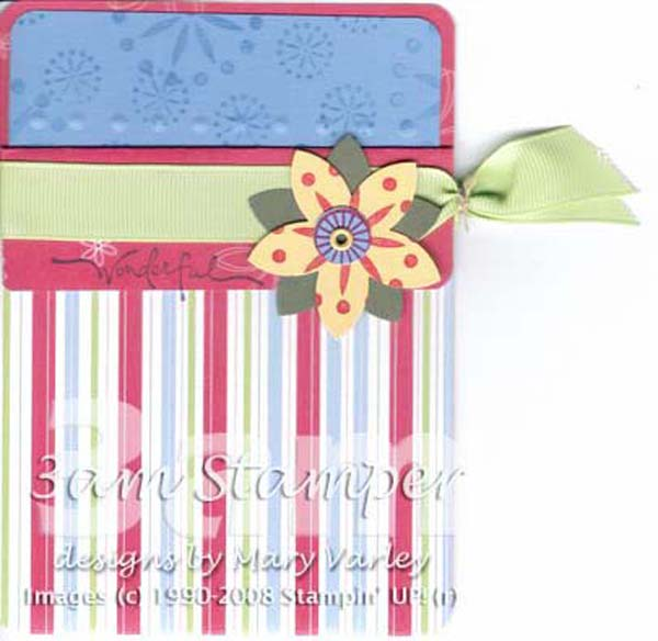 Cutie Pie Satin Ribbon Tie-Off Pocket Card - Visit http://www.3amstamper.com