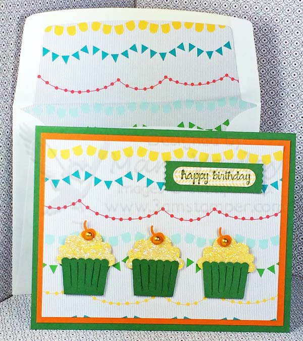 December Birthday Card With Garden Green 3amstamping Pad
