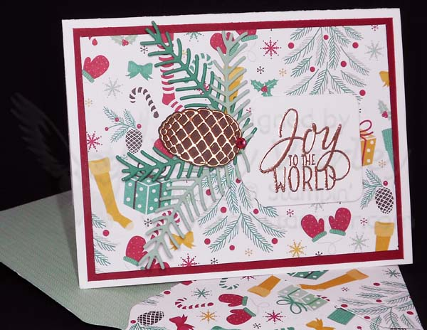 Pretty Pines Joy Card - Visit http://www.3amstamper.com