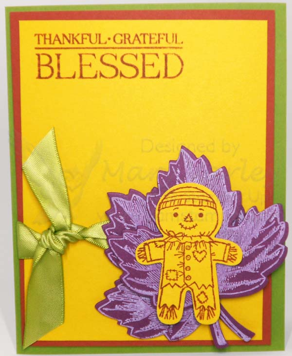 Thankful Fall Color Combination Card - Visit http://www.3amstamper.com