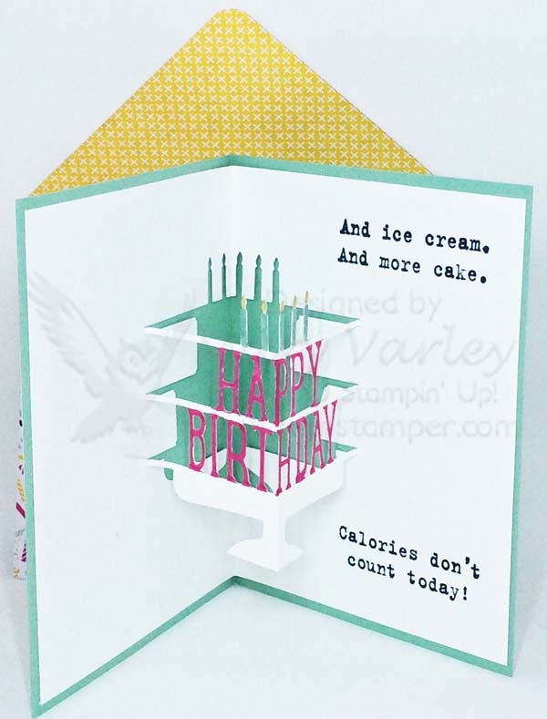 Trendy Celebrate with Cake Birthday Card Inside - visit http://www.3amstamper.com