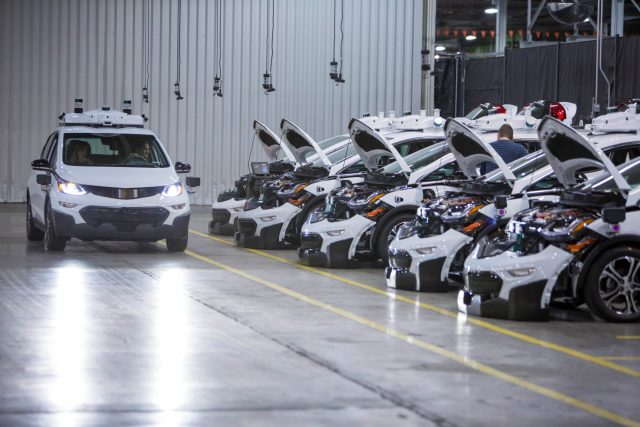 Chevrolet Bolt EV autonomous test vehicles are assembled at Gene