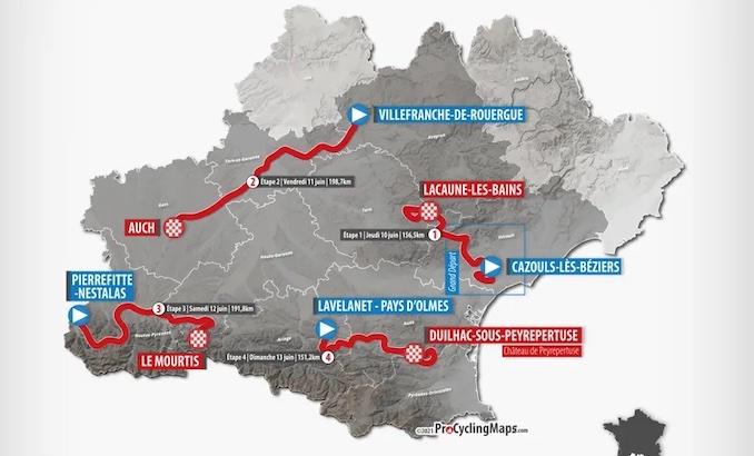 PROS – Route d'Occitanie 2021 : les parcours, les profils et la liste des engagés de la 45e édition