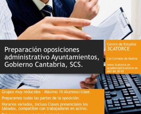 oposiciones administrativo 2016 cantabria 3catorce preparador