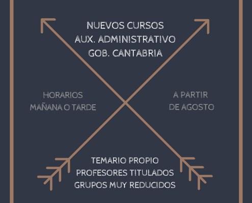 Curso Intensivo Auxiliar Administrativo Agosto 3catorce academia santander