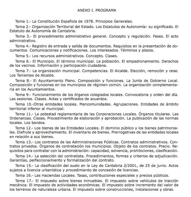 Convocatoria-Oposiciones-Cantabria-Auxiliar-Administrativo-Barcena-de-Cicero- Primer examen Oposiciones Auxiliar Administrativo Cantabria Barcena de Cicero