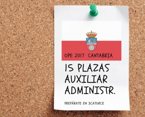 Nuevo curso auxiliar administrativo Cantabria 2018