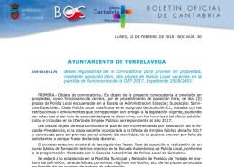 Convocatoria-Oposiciones-Policia-Local-Torrelavega-Cantabria-academia-3catorce-santander-opositar-preparar Curso Intensivo oposiciones policia local Santander