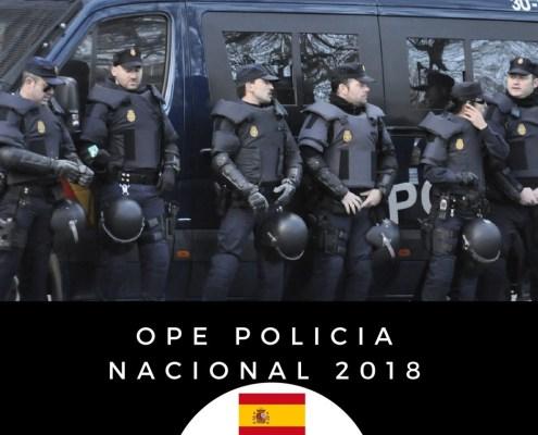 Publicada la Oferta empleo publico Policia Nacional 2018