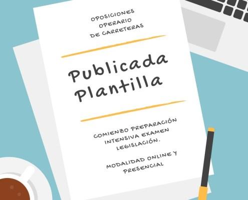 Publicada Plantilla Oposiciones Operario Carreteras Cantabria