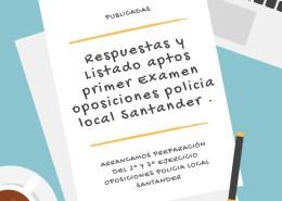 Respuestas-y-Listado-aptos-primer-Examen-oposiciones-policia-local-Santander Cantabria presentará primer borrador de las Normas Marco reguladoras de Policía Local
