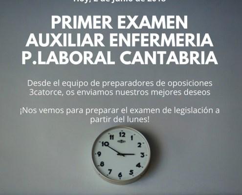 Primer Examen Auxiliar Enfermeria Cantabria