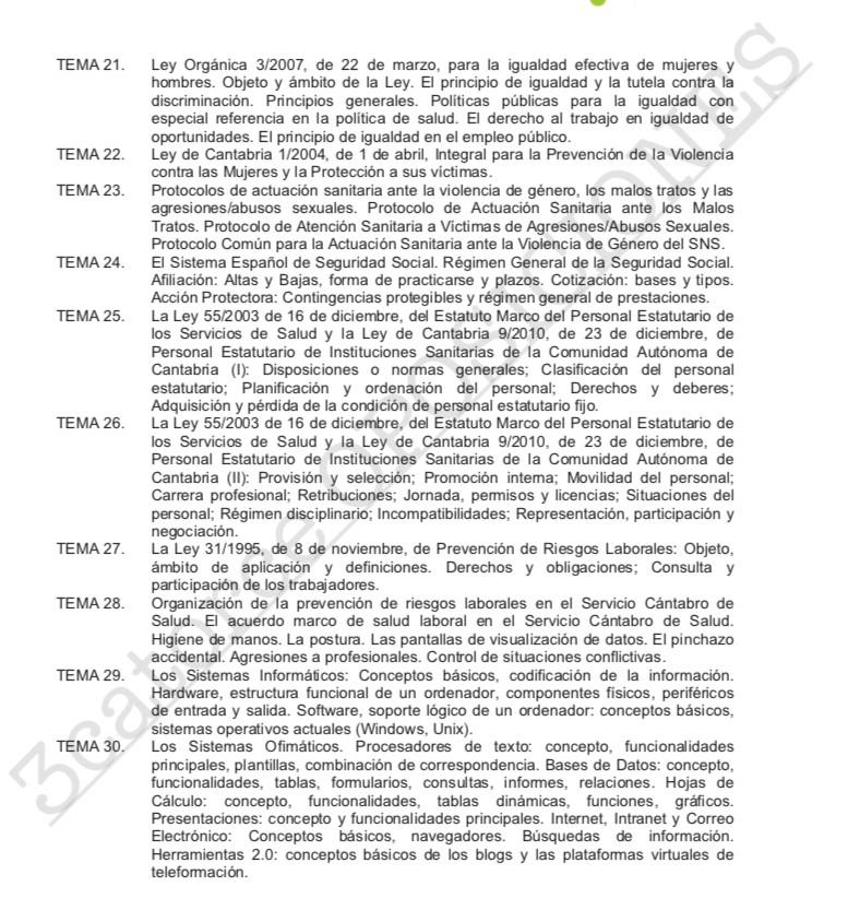 Temario-Auxiliar-Administrativo-ScSalud-3 Curso Intensivo Auxiliar Administrativo Servicio Cantabro de Salud