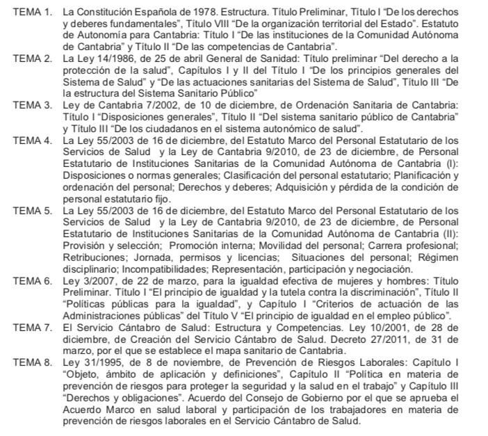 Temario-Auxiliar-Enfermeria-Servicio-Cantabro-de-Salud-1 Actualidad Curso Auxiliar Enfermeria Servicio Cantabro de Salud