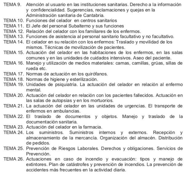 Temario-Celador-SCS-2 Notas Celador Cantabria 2019