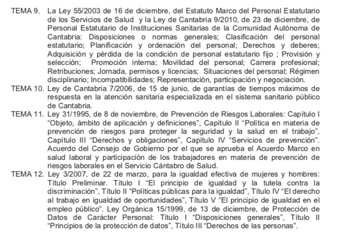 Temario-Medico-Servicio-Cantabro-de-Salud-2 Curso FEA Medicos Servicio Cantabro de Salud