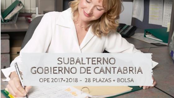 Oposiciones-subalterno-cantabria-2019 Publicadas las plazas OPE 2018 Cantabria