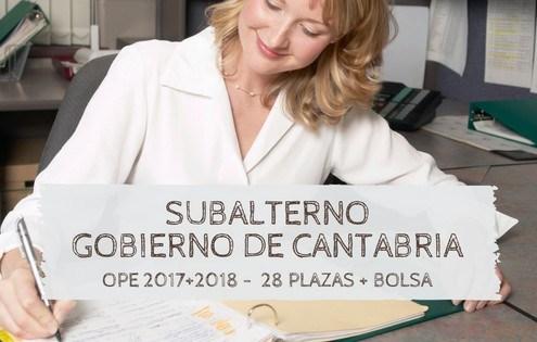 Oposiciones subalterno cantabria 2019
