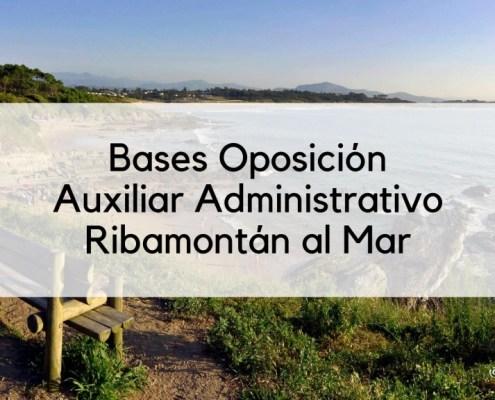 Convocatoria oposicion Auxiliar Administrativo Ribamontan al Mar