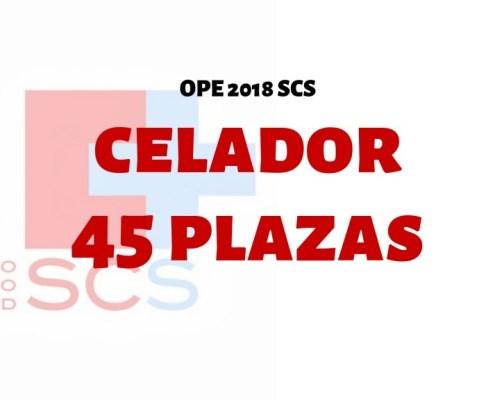 Confirmadas 45 plazas oposiciones Celador SCS 2019