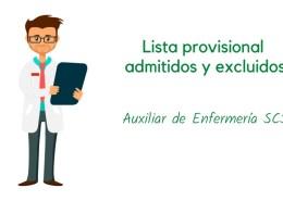 Lista-provisional-admitidos-oposicion-Auxiliar-Enfermería-SCS Cambio Tribunal oposicion SCS FEA Hematologia y Hemoterapia