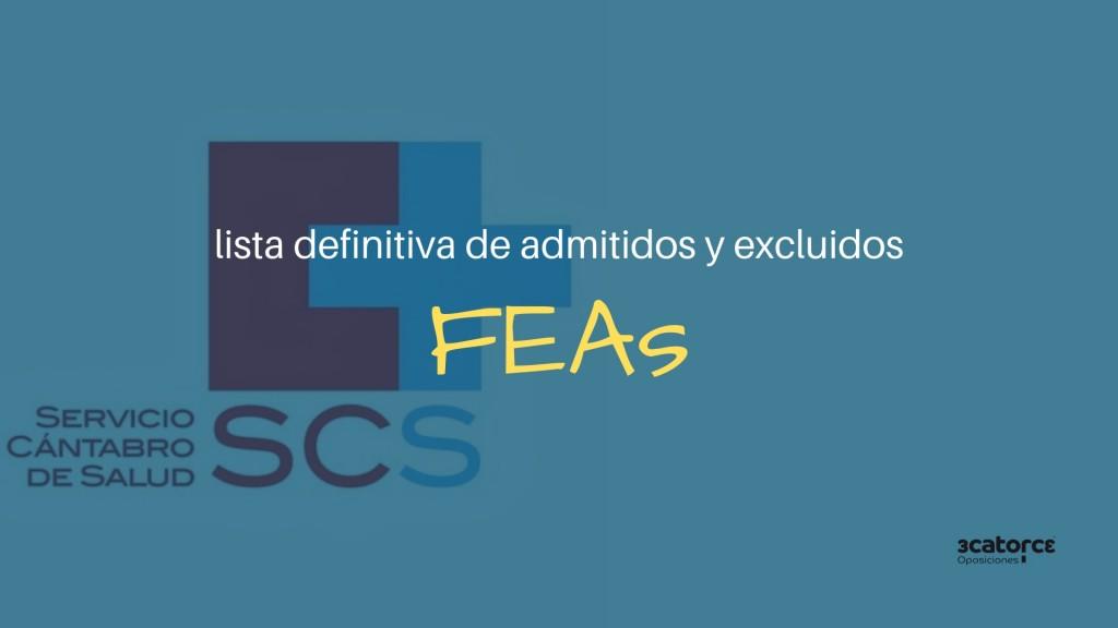 Listas-definitivas-admitidos-oposiciones-FEA-SCS Listas definitivas admitidos oposiciones FEA SCS