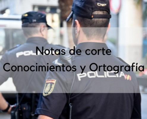 Notas corte policia nacional 2018