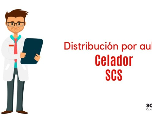 Distribucion aulas examen oposicion Celador SCS Cantabria