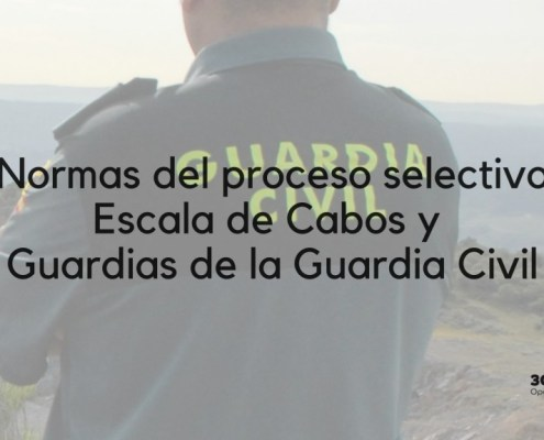 Normas oposicion Guardia Civil 2019