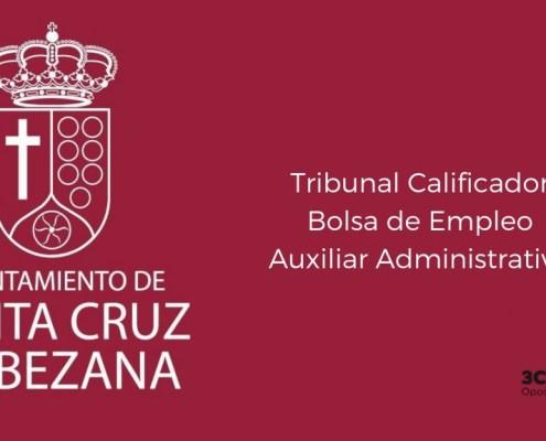 Tribunal Calificador bolsa Auxiliar Administrativo Bezana Cantabria