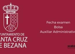 Fecha-examen-bolsa-Auxiliar-Administrativo-Bezana-2019 Oferta Empleo Publico 2019 Estado