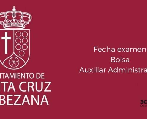 Fecha examen bolsa Auxiliar Administrativo Bezana 2019
