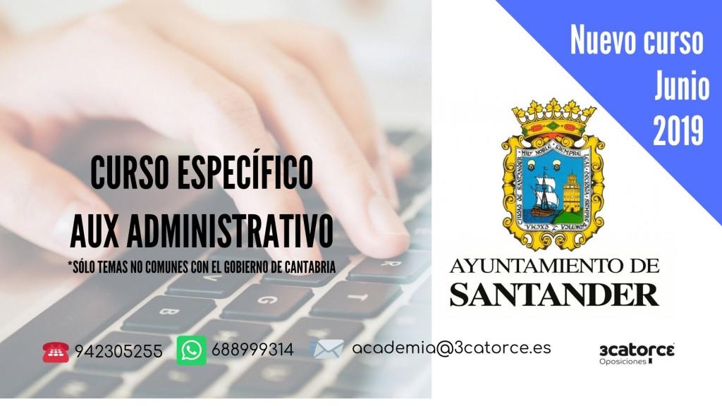 curso-aux-admvo-Santander-1 Nuevo curso auxiliar administrativo Santander 2019 Temas especificos