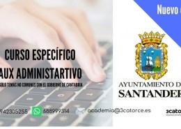 curso-aux-admvo-Santander Tribunal Calificador bolsa Auxiliar Administrativo Bezana Cantabria