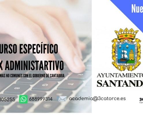 curso especifico auxiliar administrativo Santander