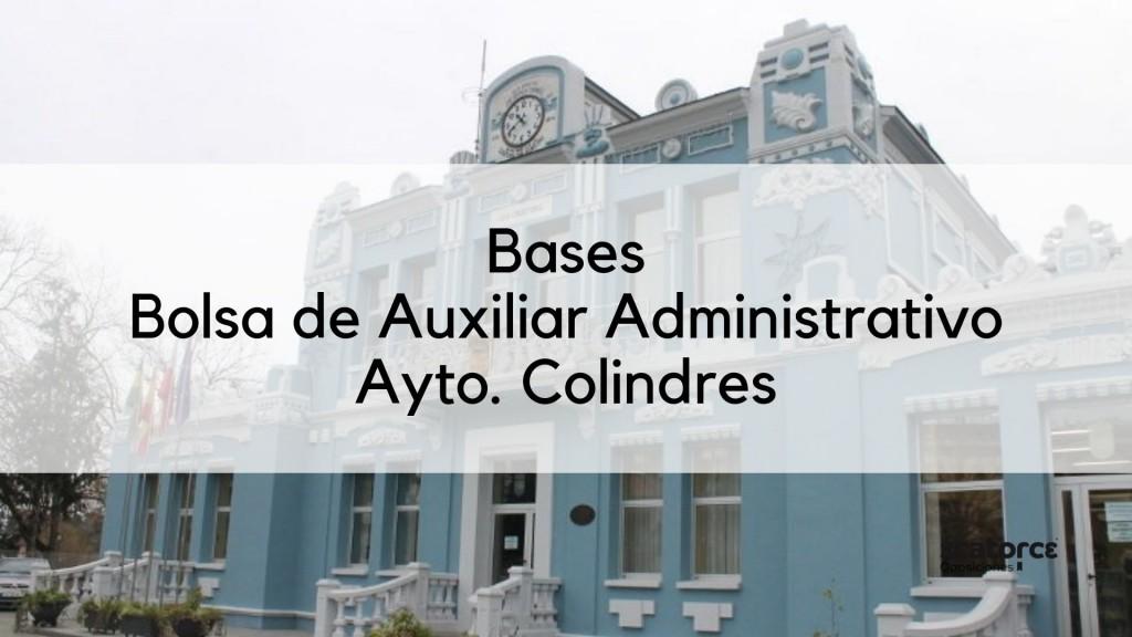 Bases-oposicion-auxiliar-administrativo-Colindres Bases oposicion auxiliar administrativo Colindres
