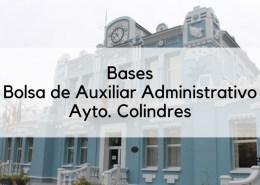 Bases-oposicion-auxiliar-administrativo-Colindres Lista provisional admitidos oposiciones administrativo Cantabria Camargo