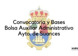 Convocatoria-auxiliar-administrativo-Suances Bases 1 plaza Trabajador Social Camargo