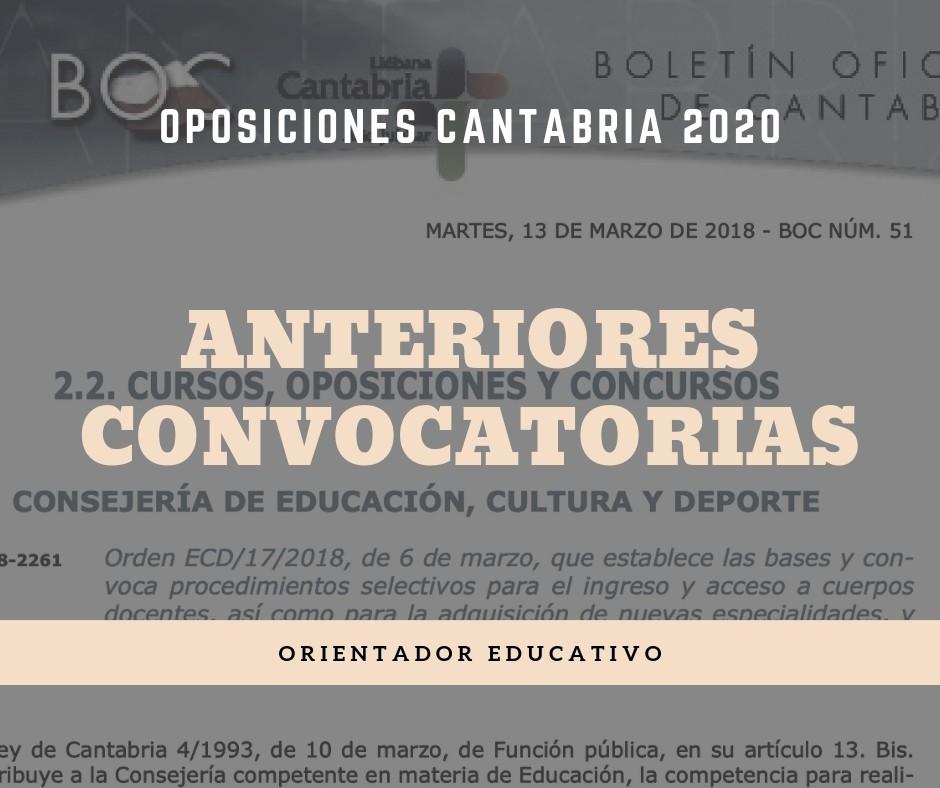 Convocatoria-oposiciones-Orientador-educativo-Cantabria Convocatoria oposiciones Orientador educativo 2020