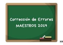 Correccion-errores-oposiciones-maestros-Cantabria-2019 Supuestos practicos pedagogia terapeutica PT