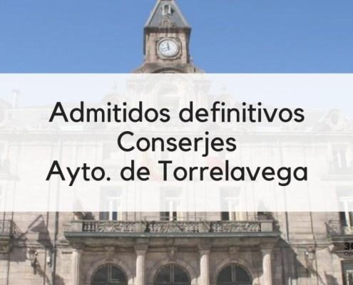 Listas admitidos Conserje Torrelavega 2019