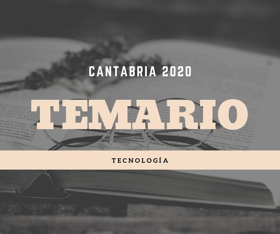 Temario-oposiciones-Tecnología-Cantabria-2020 Temario oposiciones Tecnología Cantabria 2020