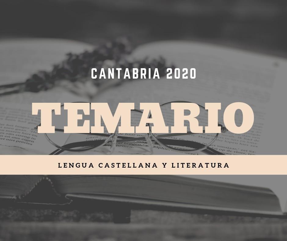 Temario-oposiciones-lengua-Cantabria-2020 Temario oposiciones lengua Cantabria